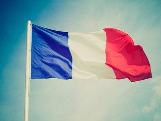Retro look Flag of France