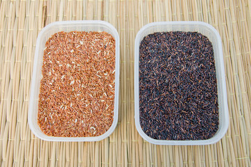 unpolished rice or brown rice
