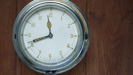 Time lapse of a wall clock ticking.