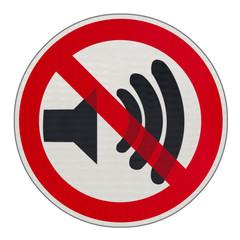 panneau bruits interdits