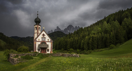 Church in Dolomite Alps
