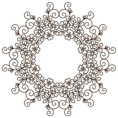 Round lace card