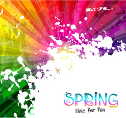 Spring Colorful Explosion of colors background for  party flyers