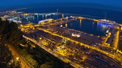 Barcelona Shipyard Time Lapse Zoom