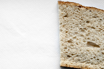Cutted bread background