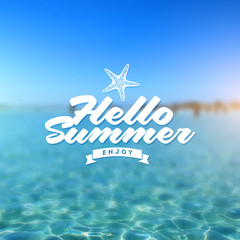 Summer holidays type vector design