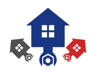 logo workshop house,mechanic icon,automotive repair symbol