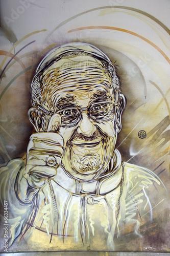 Papa Francesco Murales - 66334457