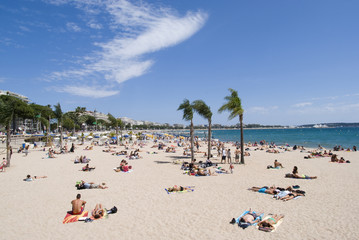 Beach in Cannes, French Riviera