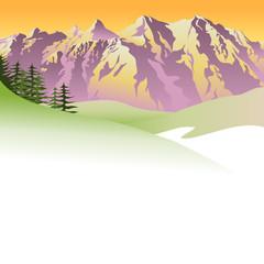 Berglandschaft - Hintergrund oder Banner