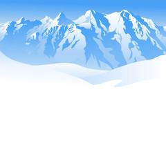 Winterliche Berglandschaft - Hintergrund oder Banner