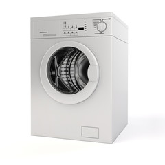 3d washing machine on white background