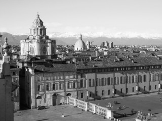 Black and white Piazza Castello Turin