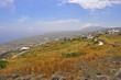 landschaft auf griechischer insel santorin