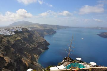 kraterblick auf Santorin, Griechenland