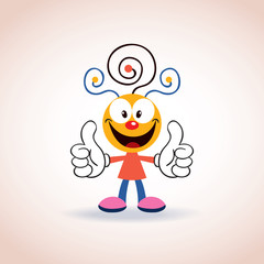 cute mascot cartoon character
