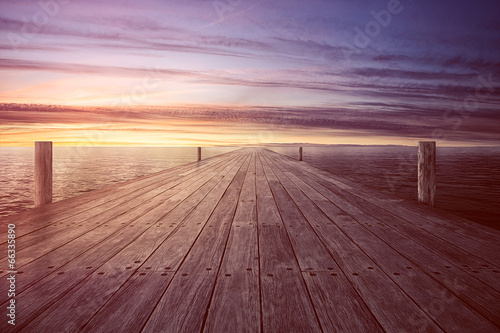 canvas print picture Endless Jetty