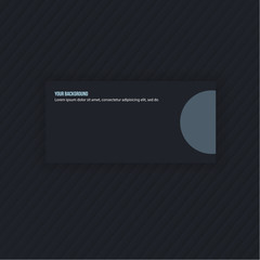 Vector modern simple light business card template