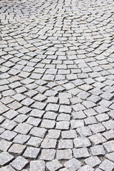 Cobblestoned pavement