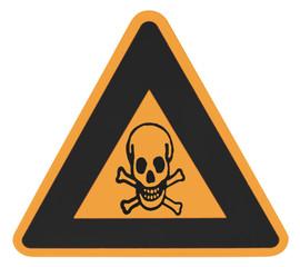 panneau danger poison