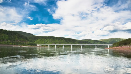 The Bridge Over the Yenisei River