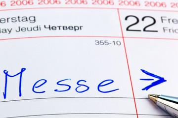 Eintrag im Kalender: Messe
