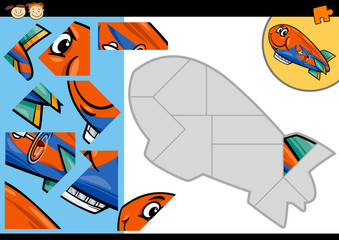 cartoon blimp jigsaw puzzle game