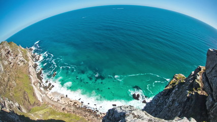 Beach Time Lapse Cape Point Fisheye