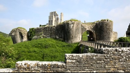 Norman castle in England at Corfe Dorset