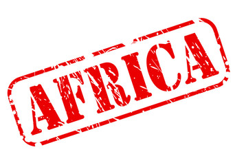 AFRICA red text stamp on white