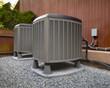 Leinwanddruck Bild - HVAC heating and air conditioning units
