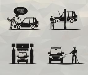 Car service. Vector format
