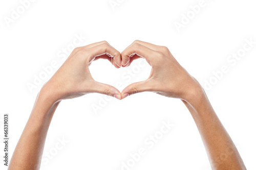 canvas print picture Love concept, heart shape.
