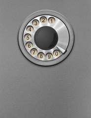 Retro public phone rotary dial