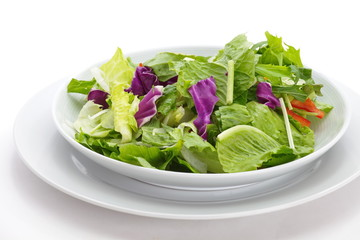 Healthy food of fresh green vegetables salad