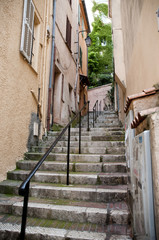 Narrow streets and strairs  Cannes France