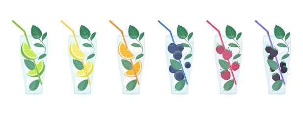 Summer Mojito Cocktail Icons