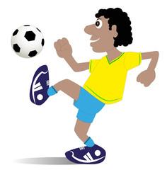 calciatore su sfondo bianco