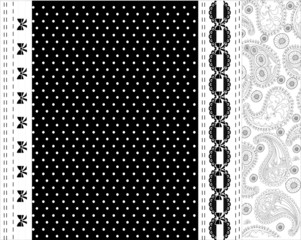 Black and white lace vector design