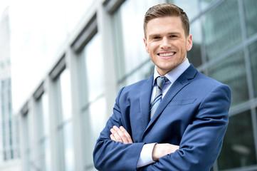 Portrait of handsoem young entrepreneur