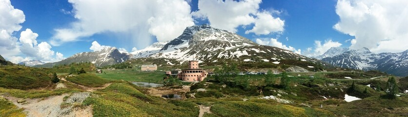 Simplon Pass panorama