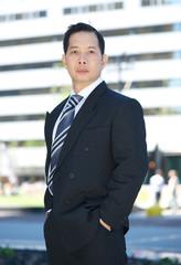 Formal portrait of an asian businessman