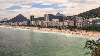 Beach Time Lapse Rio Copacabana Zoom