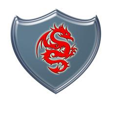 Escudo dragón rojo