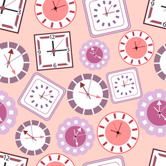 vector background with different types of clocks