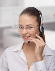 Businesswoman talking on the phone,operator