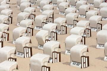 Beach chairs, baltic sea