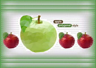 Abstract polygonal apples