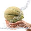 melone in mano splash