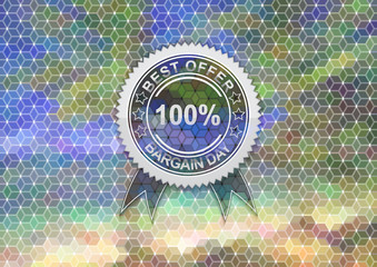 Sale label on mosaic background